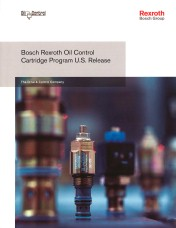 Rexroth Releases New Oil Control Cartridge Program Catalogue