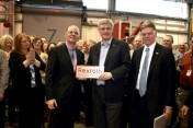 Prime Minister Stephen Harper with Bosch Rexroth Canada associates